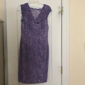 Cynthia Steffe Lavender Lace Dress NWOT